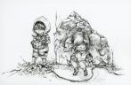 """A Survivor is Born (DA Tomb Raider Contest), microns, 11x14"""", 2013"""