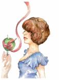 """Lollipop, watercolours & micron, 10x14"""", 2012"""