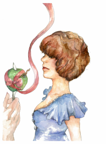 "Lollipop, watercolours & micron, 10x14"", 2012"