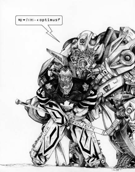 "Optimus Reim, Microns on Paper, 11x14"", 2014"