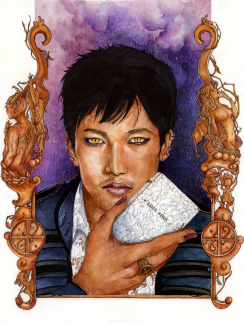 "The High Warlock of Brooklyn (TMI), Watercolour & Mixed-Media on Paper, 11x15"", 2013"