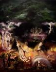 """Till Death Do Us Part, acrylics on canvas, 22x28"""", 2011"""