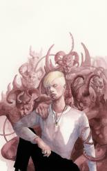 "Sebastian Verlac (TMI by Cassandra Clare), watercolours on paper, 8x12"", 2017"